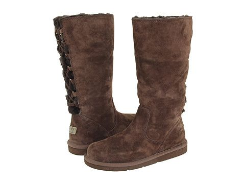 Womens UGG AUSTRALIA 5734 ROSEBERRY Suede BOOTS Shoe CHOCOLATE 8 BROWN Shearling