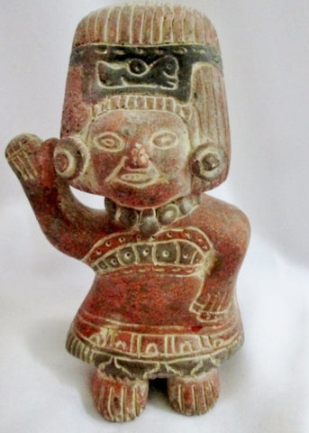 "7.5"" MEXICAN MEXICO Ceramic Terra Cotta Sculpture Folk Art Primitive Figure Ethnic"