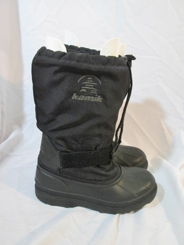 Mens KAMIK Waterproof Insulated Duck Boot Shoe Snow Rain BLACK 8