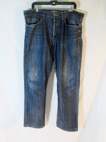 Mens LUCKY BRAND 121 HERITAGE SLIM Denim JEAN PANT BLUE 36 X 30 Dungarees Hipster BOHO