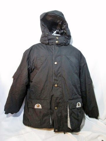 Mens JOHN BLAIR JB JACKET Coat Puffer Winter Ski Parka BLACK XLG / XL Hood