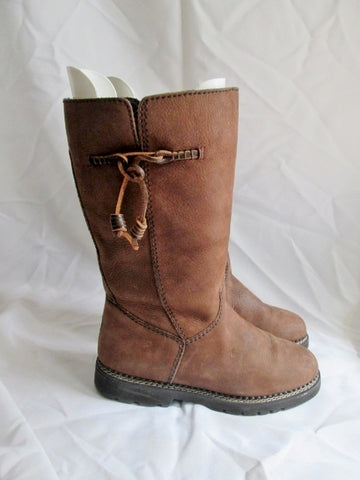 Womens G.H. BASS Leather Boot 8.5 BROWN Boho Tassel Hippy