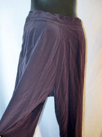 MOTHER OF PEARL LONDON ENGLAND Pleated TROUSER Pant 6 BROWN PURPLE Womens