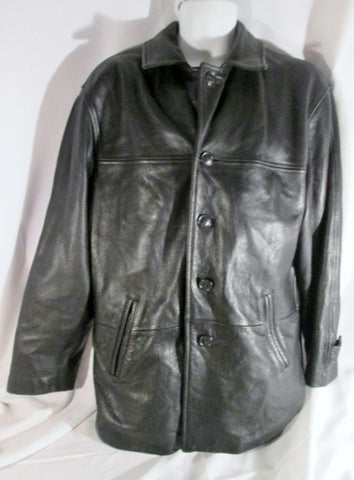 Mens DANIER CANADA leather jacket Hipster Moto Riding Coat BLACK 36-38 S parka