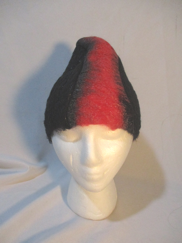 NEW PRADA Knit MOHAIR WOOL HAT Cap Beanie BLACK RED Couture