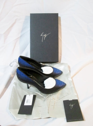 NEW GIUSEPPE ZANOTTI  DIRTY SCARPA KURT Pump Shoe NERO BLUE 36 / 6 Womens NIB