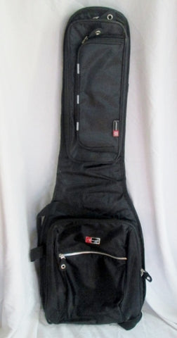 "CROSSROCK 40"" Guitar Musical Instrument GIG BAG Case BACKPACK BLACK"