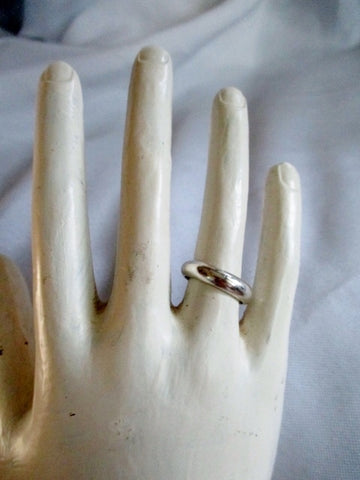 Signed TAXCO TL-56 925 STERLING Silver Ring Sz 6.5 Band Statement Jewelry Wedding Promise Pinky