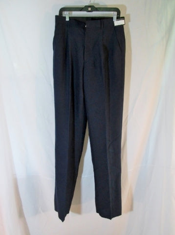 NEW VITTORIO ST. ANGELO Formal SUIT Dress Pant Suit NAVY BLUE 38R 32W