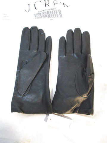 NWT NEW J. CREW JCREW Leather Cashmere Gloves S BLACK Driving
