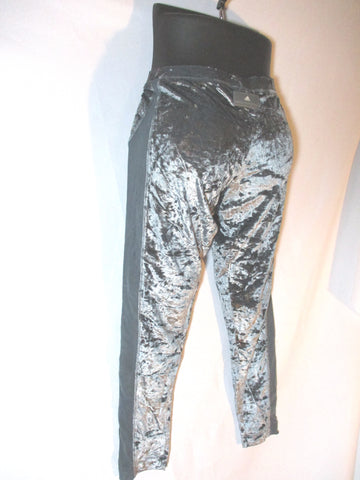 ADIDAS STELLA MCCARTNEY RUN TIGHT Legging Yoga Velvet 36 PEWTER Pant GRAY