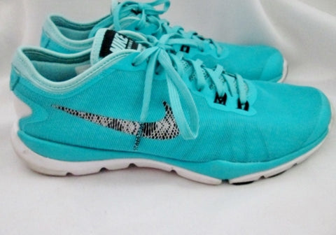 Womens NIKE FITSOLE FLEX SUPREME TR4 Running Sneakers Athletic Shoes 8 AQUA BLUE Fitness Workout