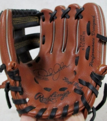 RAWLINGS PL85 8.5-Inch DEREK JETER Baseball Brown Black Leather Glove Softball