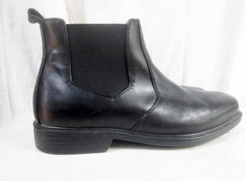 Mens GIORGIO BRUTINI Leather Ankle Boots Shoes Booties BLACK 11.5W