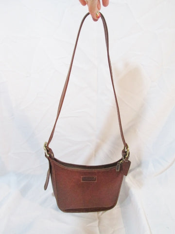 G.H. BASS & CO. Duffel Hobo SHOULDER BAG BROWN Leather Crossbody