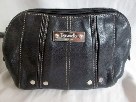 TIGNANELLO Leather Shoulder Bag Crossbody Purse Handbag Wallet BLACK