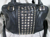 IMOSHION Stud Spike Shoulder Tote Bag Purse BLACK Industrial Goth Punk VEGAN