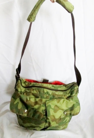MOSSIMO DENIM SUPPLY Tactical Messenger Crossbody Biker Bag CAMO Man Purse