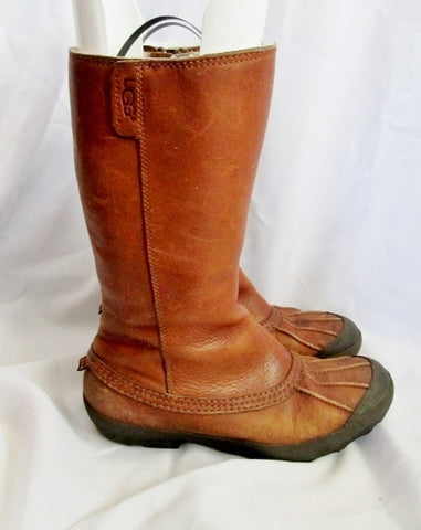 Womens UGG AUSTRALIA 5669 BELFAIR DUCK BOOT Shoe CAMEL BROWN 7