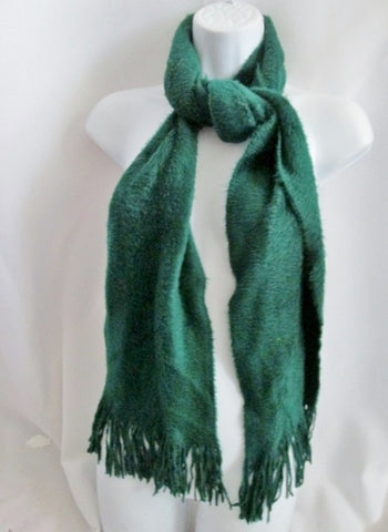 "69"" LUCKY BRAND Knit NECK Warmer SCARF Wrap HUNTER GREEN Hipster Boho Indie"