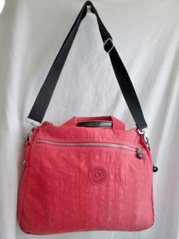 KIPLING MONKEY vegan satchel briefcase clutch travel luggage shoulder bag PINK PEACH SALMON