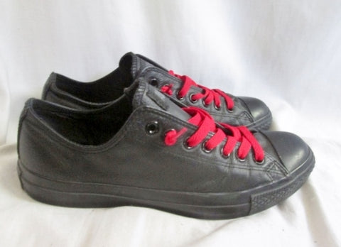 CONVERSE ALL STAR LOWRISE LEATHER Sneaker Trainer Athletic BLACK M9 W11 CHUCKS Shoe