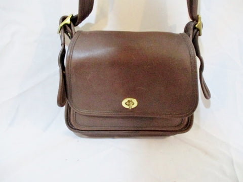Vintage Coach Rambler Legacy 9061 Brown Crossbody Flap Leather Bag
