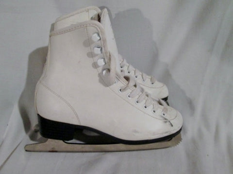 Girls GOLD MEDAL Figure Ice Skates Winter Skating White Competition 5 Sport