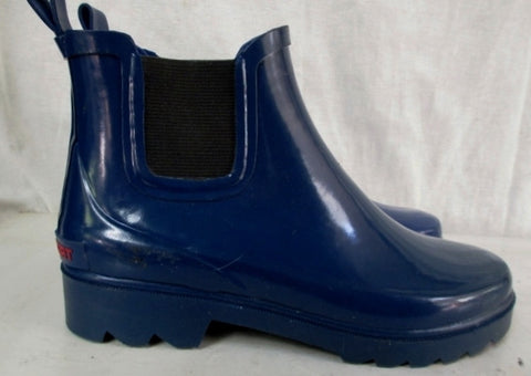 Womens Ladies POLO SPORT Wellies Rain Duck Boots Garden Foul Weather Shoes BLUE 6