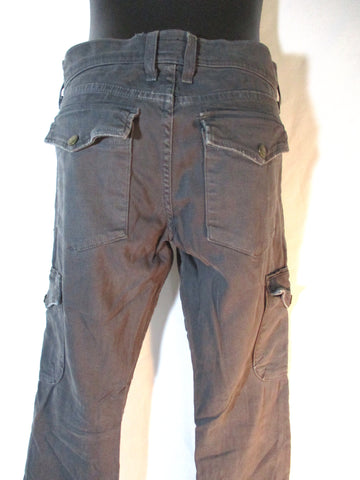 CURRENT/ELLIOTT GREY INK SKINNY CARGO Jean Pant 27 Gray Dungarees Womens
