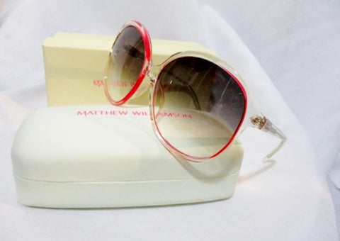 NEW MATTHEW WILLIAMSON LINDA FARROW Sunglasses CLEAR PINK Japan NIB