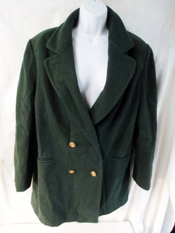 Vtg J.G. HOOK 100% Wool jacket Coat Peacoat Blazer HUNTER GREEN M USA