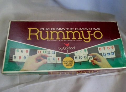 NIB NEW Vintage Stock RUMMY-O TILE by CARDINAL Super Deluxe Game