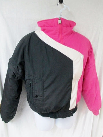 Vtg 1985 Womens DOWNHILL RACER Snowboard Ski Jacket Coat Down Puffer PINK M