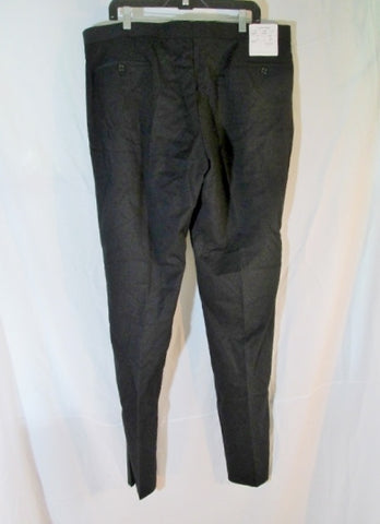 NEW CALVIN KLEIN MYER Tuxedo Suit PANT SLIM FIT 46R BLACK Formal Wedding NWT Mens