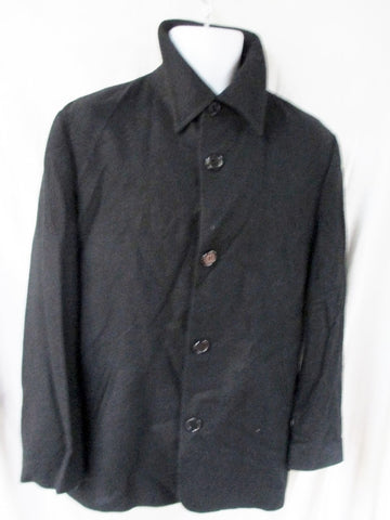 MENS CASHMERE CLASSICS Button Up JACKET Coat SOFT Black 36 S