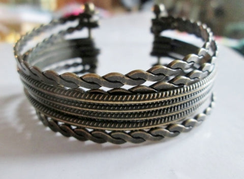 Mens Womens BRAIDED METAL Multi-Strand Ethnic Primitive Bracelet Cuff Bangle Arm Band Jewelry