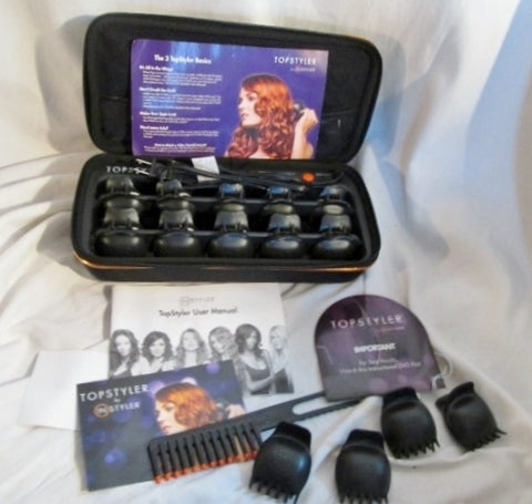NEW TopStyler by InStyler Heated Ceramic Styling Shells Hair Curlers & Case NO BOX