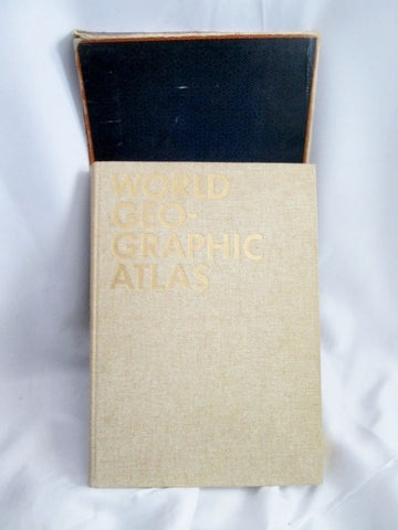 Vintage 1953 WORLD GEO-GRAPHIC ATLAS Geography Hardcover Book HC Map Cartography