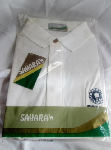 NWT Mens 1992 SAHARA SALEM GOLF CLUB POLO SHIRT XL WHITE NEW NIP
