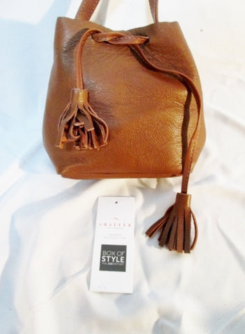NEW NWT SHAFFER LOS ANGELES Greta Italian Leather Purse Crossbody Shoulder Bag  BROWN purse FRINGE