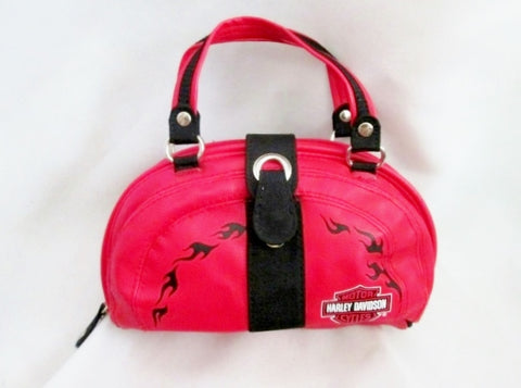 HARLEY DAVIDSON Running Bumbag Biker Waist Belt Travel Riding Bag RED Satchel