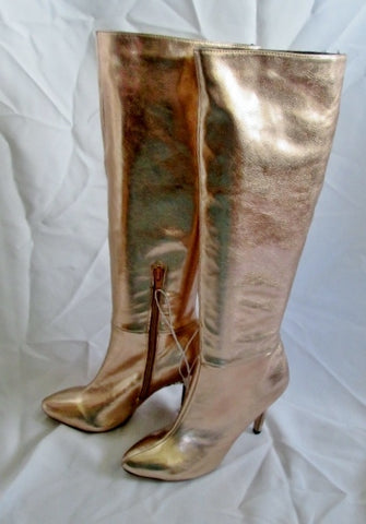 NEW Womens MADDEN GIRL SKYLAR Tall Vegan ROSE GOLD Metallic Boot 8