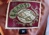 Vintage Womens LEARSI suede leather vest jacket Riding Moto BROWN M western cowboy