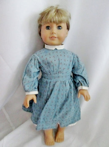 AMERICAN GIRL DOLL KIRSTEN LARSON PIONEER Retired BLONDE HAIR BLUE EYES Dress