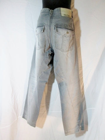 Mens OSKLEN Chino Corduroy Pants 34 X 33 GRAY Hipster Boho GREY Trouser