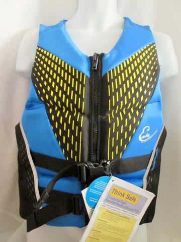NEW NWT Adult FULL THROTTLE LIFE Flex Back VEST Jacket BLUE BLACK L RAPID DRY