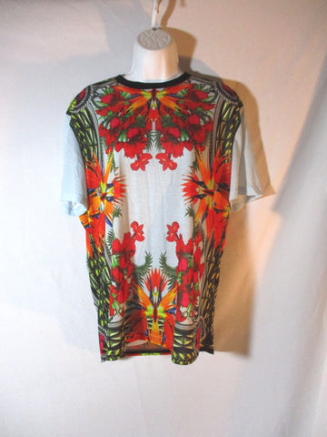 NWT NEW GIVENCHY PARIS BIRD OF PARADISE Top T-Shirt Tee S Floral BLUE