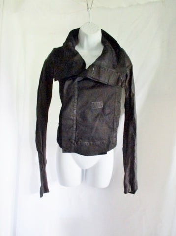 NWT NEW RICK OWENS DRKSHDW DENIM Jacket Coat 42 S BLACK Womens