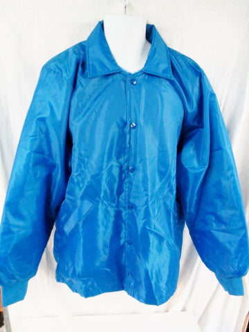 NEW Mens BIRDIE BY MARSAL JACKET Letterman Sports Coat Waterproof BLUE L